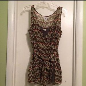 Nine West sleeveless layered tank blouse 12